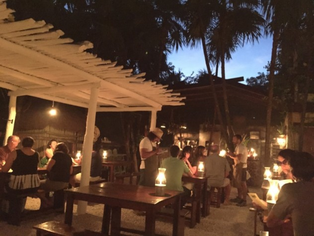 Dinner at Hartwood in Tulum Mexico