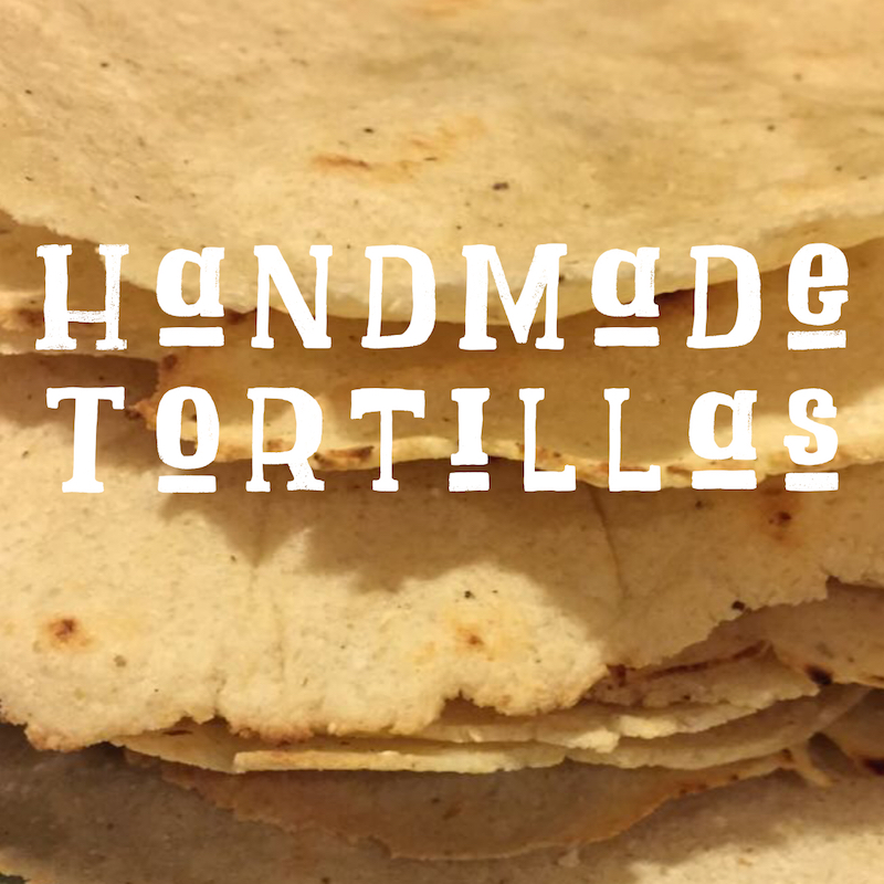 Handmade tortilla recipe