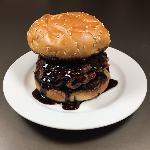 Port Wine Jucy Lucy Burger