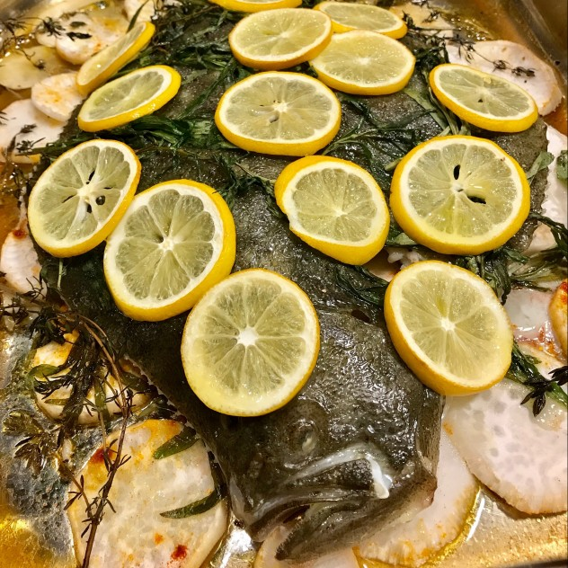 Baked Turbot Fish
